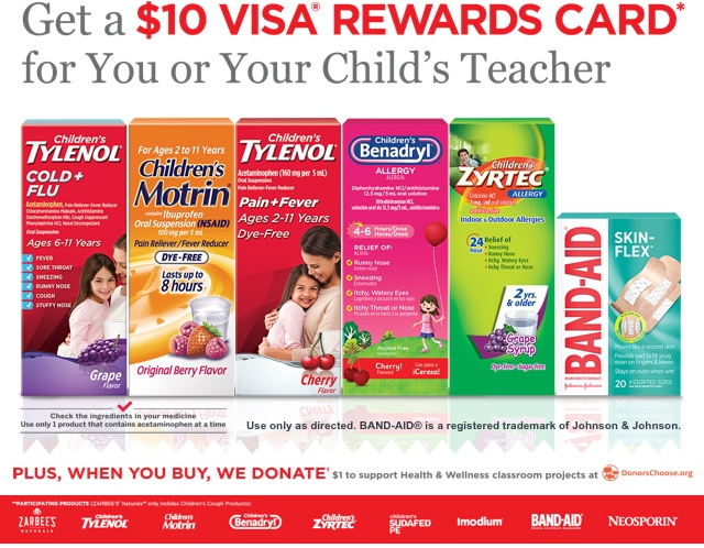 Get a $10 Visa Rewards Card for You or Your Child's Teacher